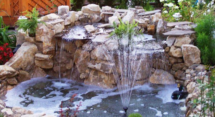 фонтан и водопад