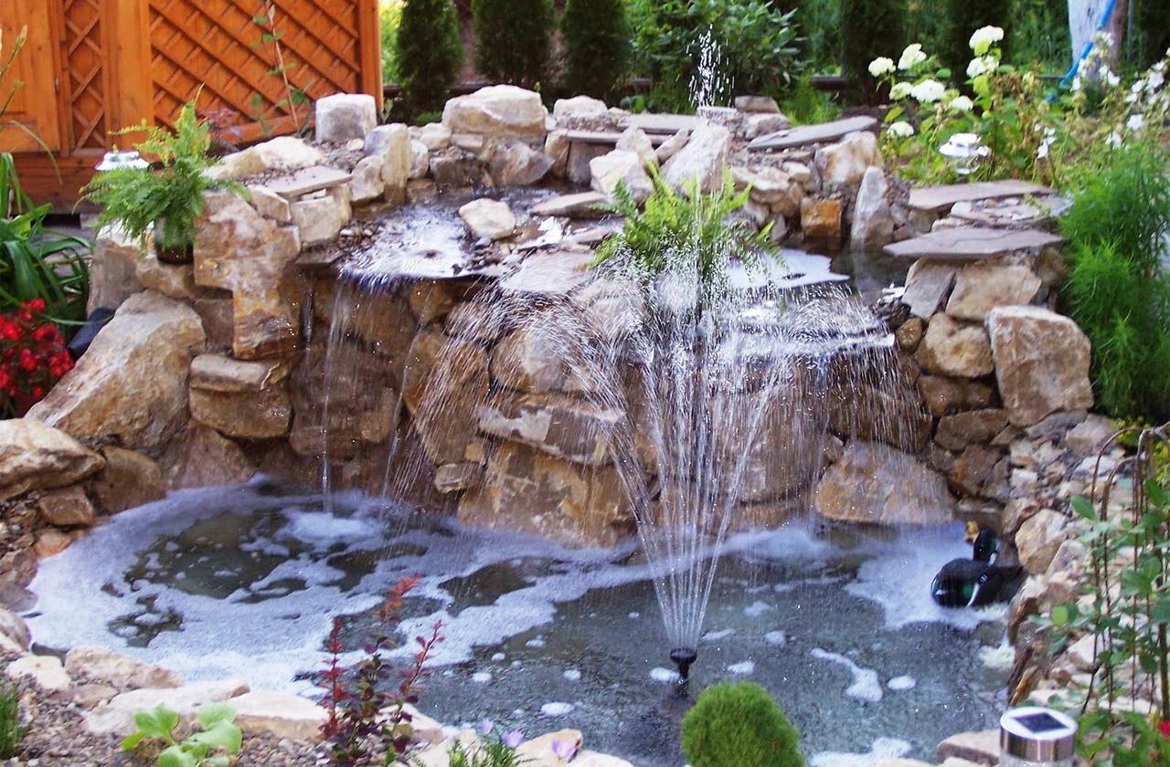 Фонтаны водопады сада своими руками фото 424