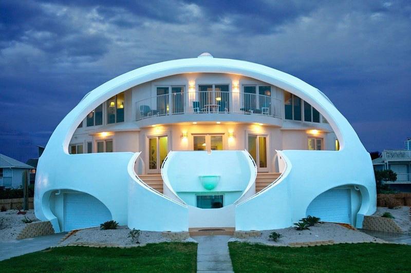 Проект круглого дома с оранжерей, планировка — Хроники Процветании