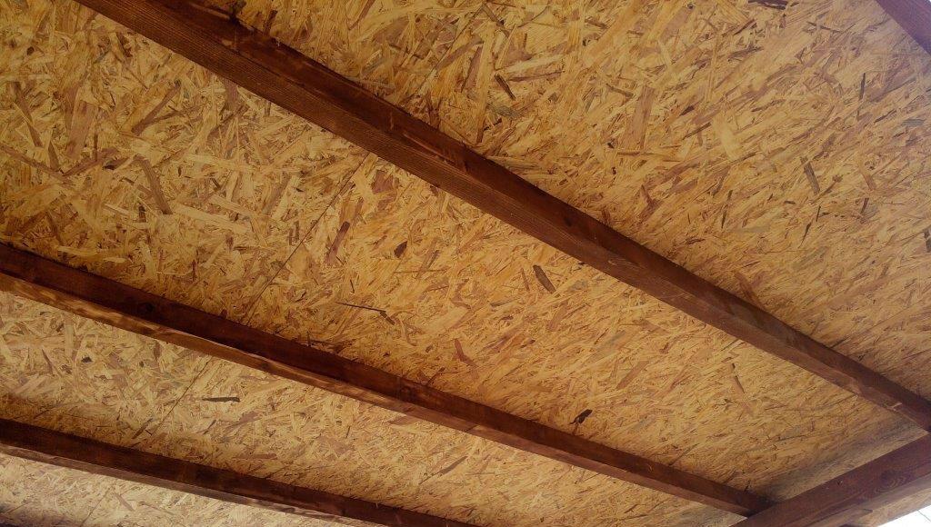 Потолок с фактурой ОСБ листов