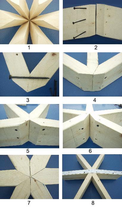 безконнекторное соединение купольных конструкций