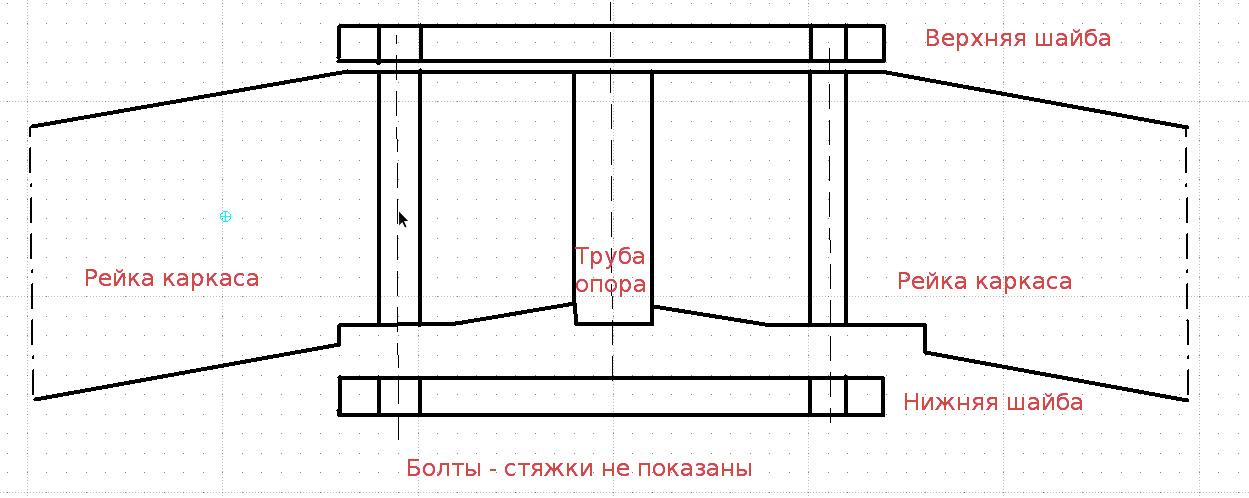 схема плоского коннектора, например, из дерева