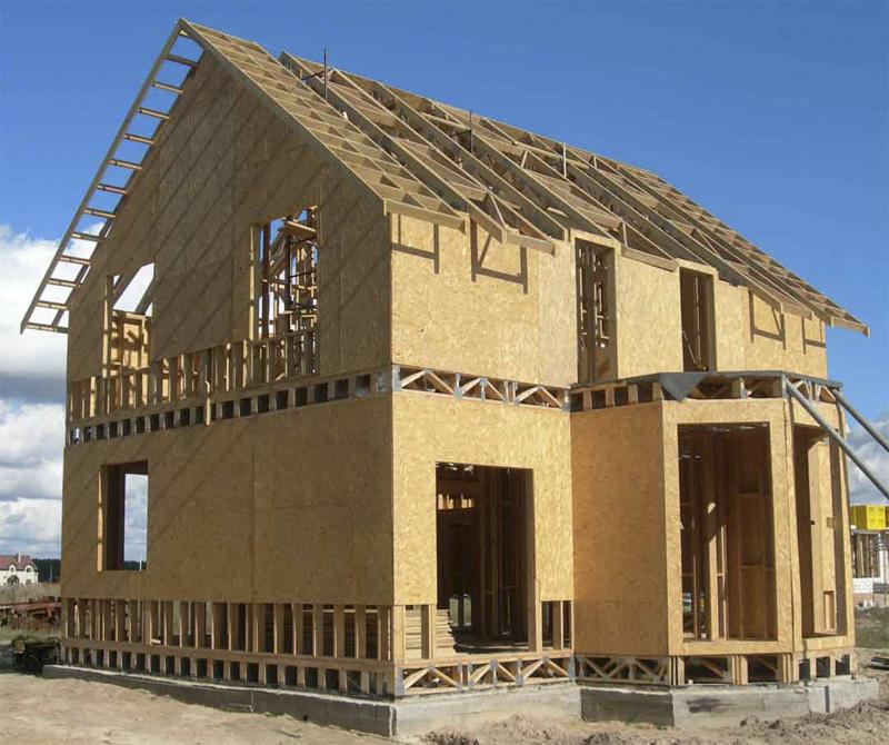 Строительство дома из OSB листов.