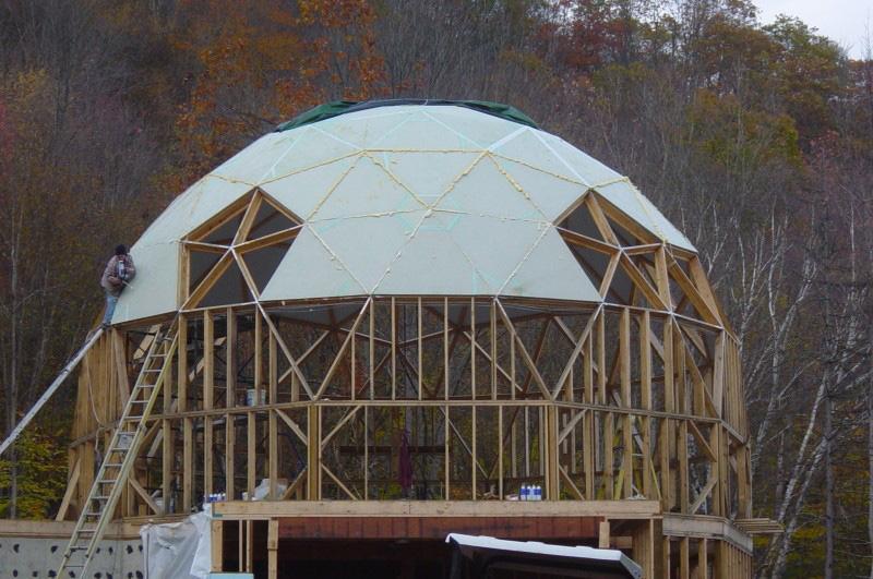 строительство купольной крыши