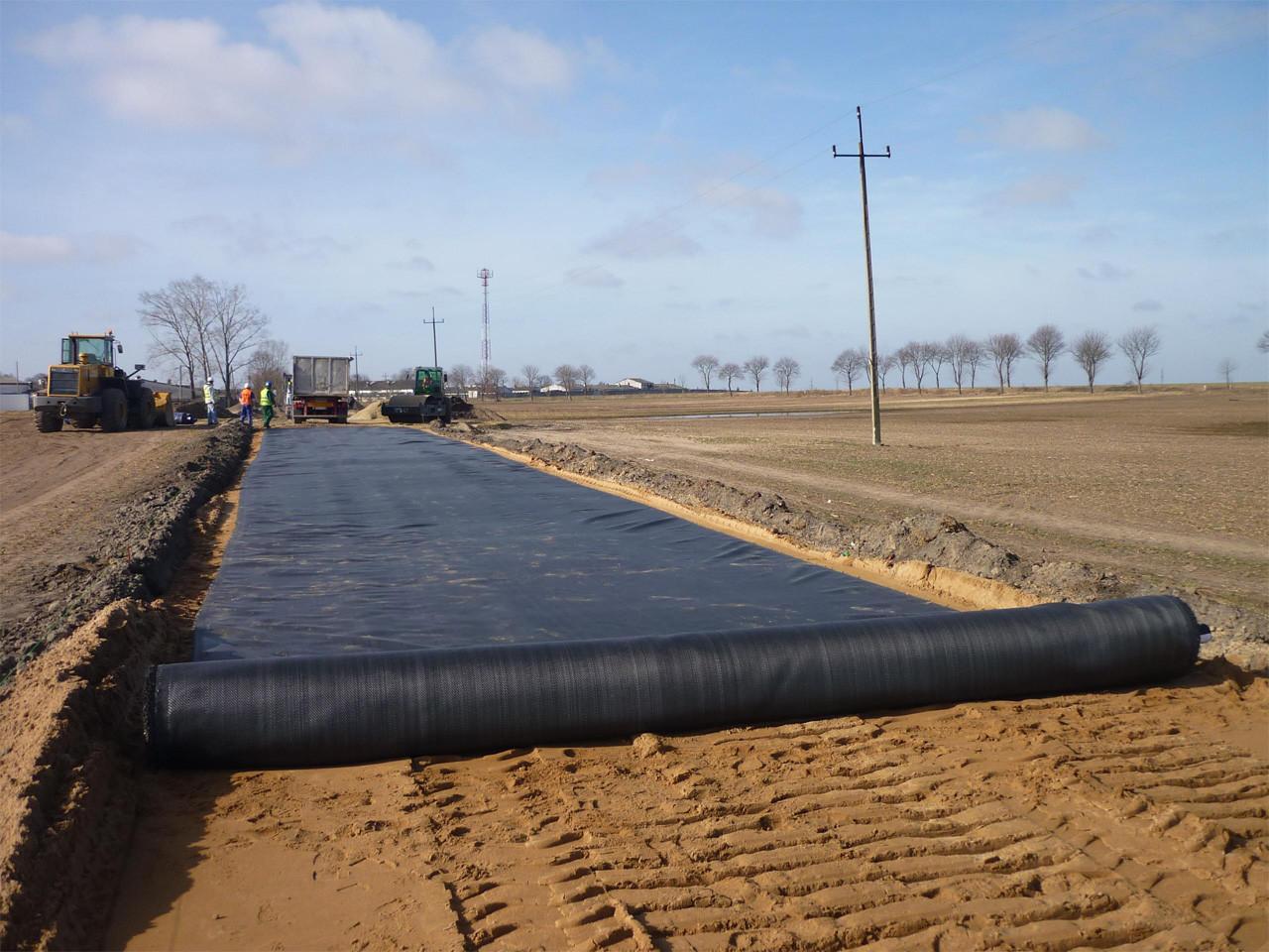 использование геотекстиля при строительстве дорог