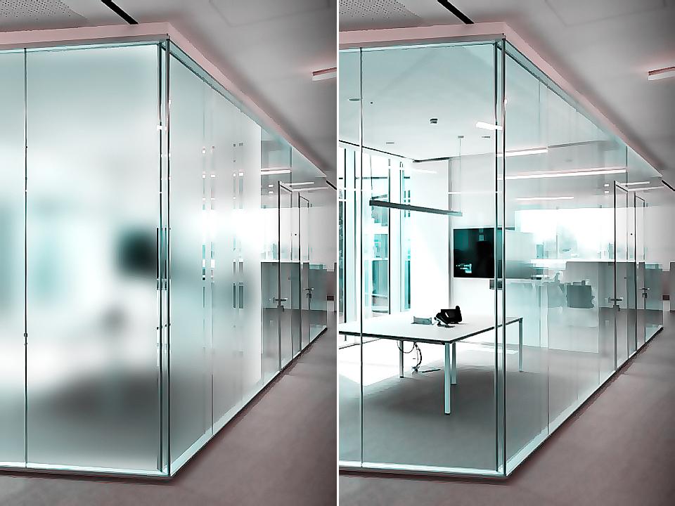 электрохромное стекло в работе