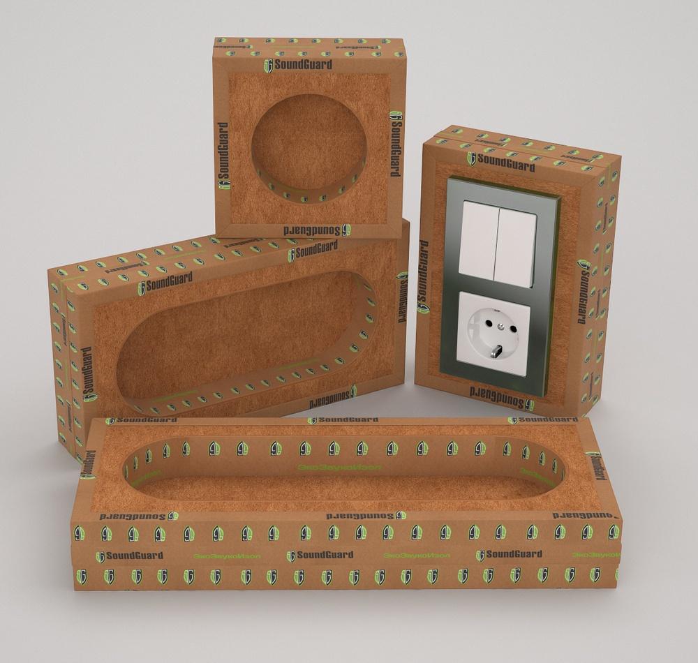 шумоизоляционный короб для розетки