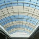 Крыша дома из сотового поликарбоната