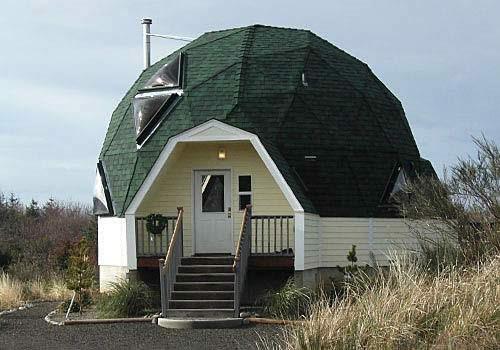 купольная крыша с черепицей