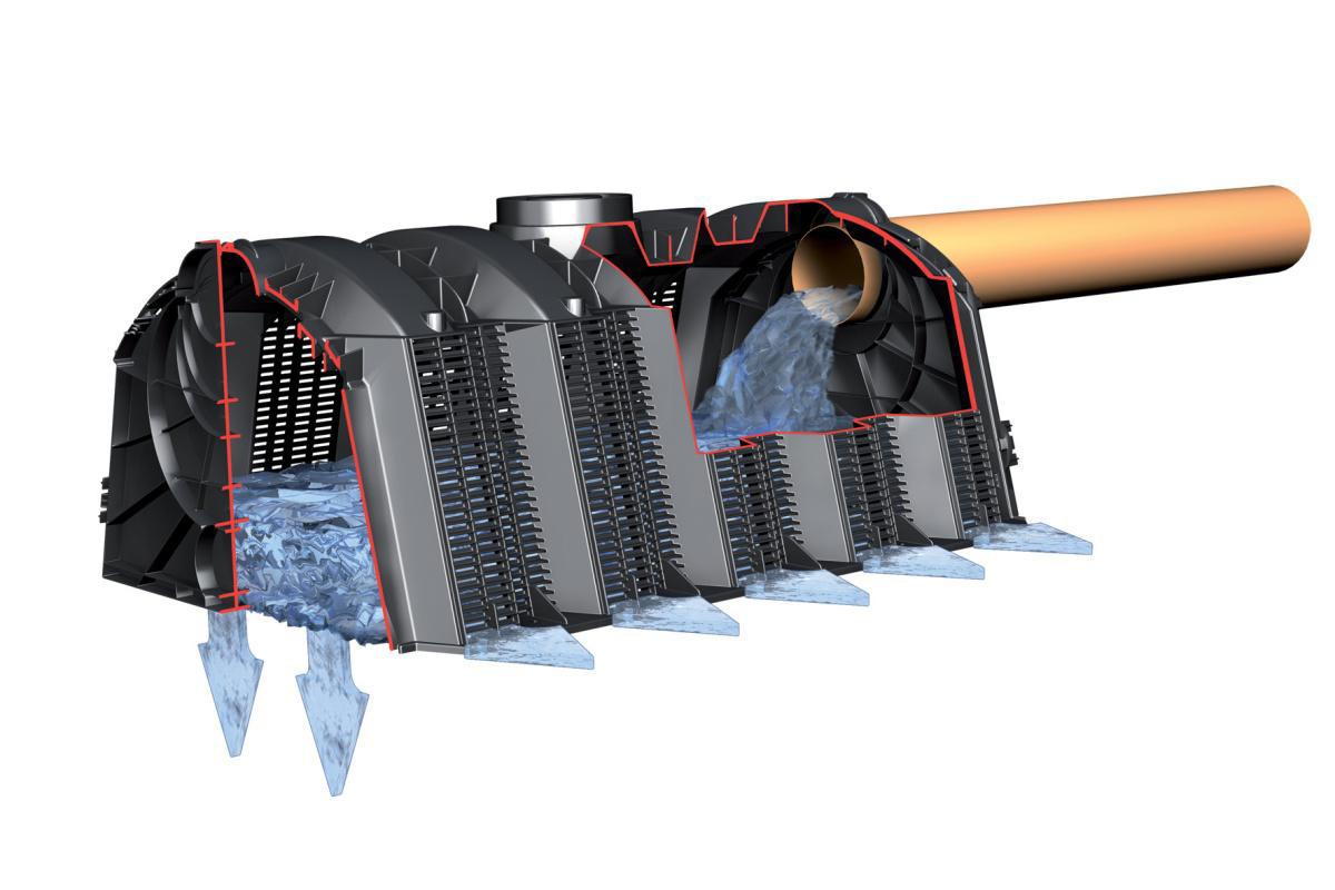 установка для отвода воды из дренажной системы в грунт
