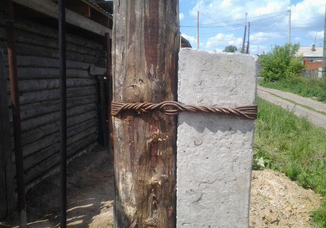 Использовании катанки при установке деревянных столбов