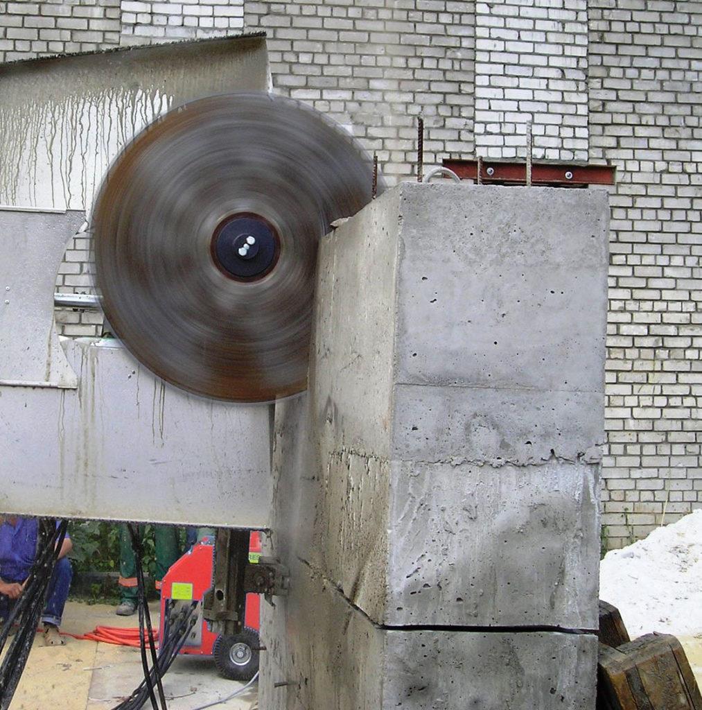 как пилить бетон