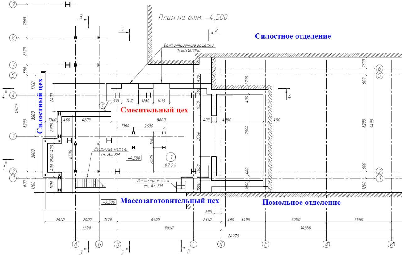 Рисунок №1 – Строительство нового «Смесительного цеха» внутри завода по производству силикатного кирпича.