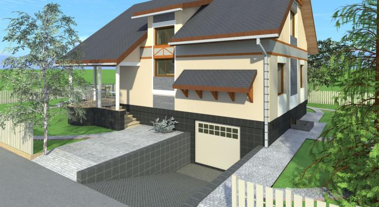 Как сделать дом с гаражом под домом