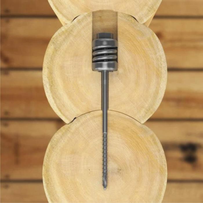 пружинный компенсатор внутри бруса