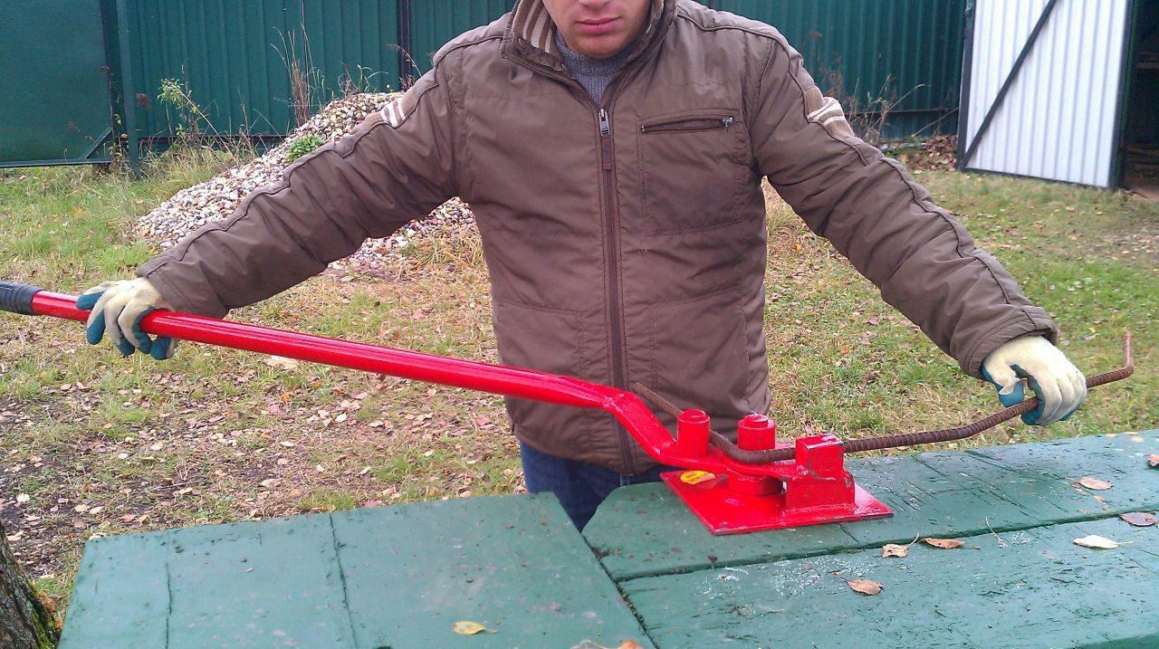 ручное устройство для гибки арматуры