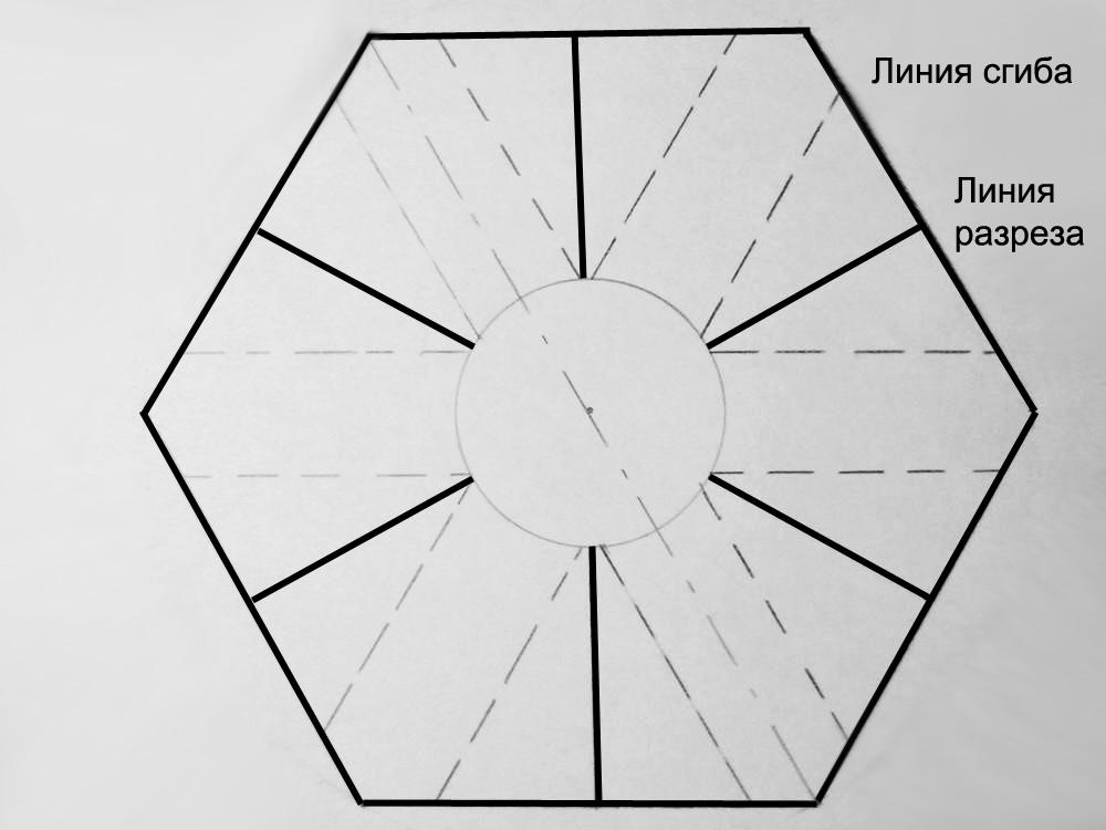 схема раскройки и сгиба плоского металлического коннектора