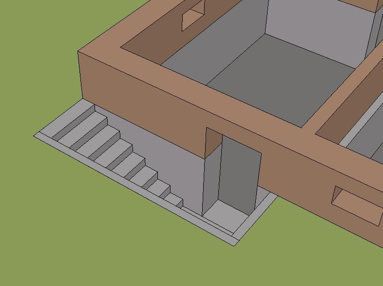 схема проёма для двери в фундаменте