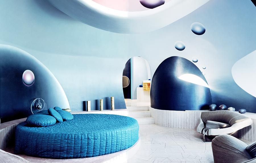спальня в стиле футуризма