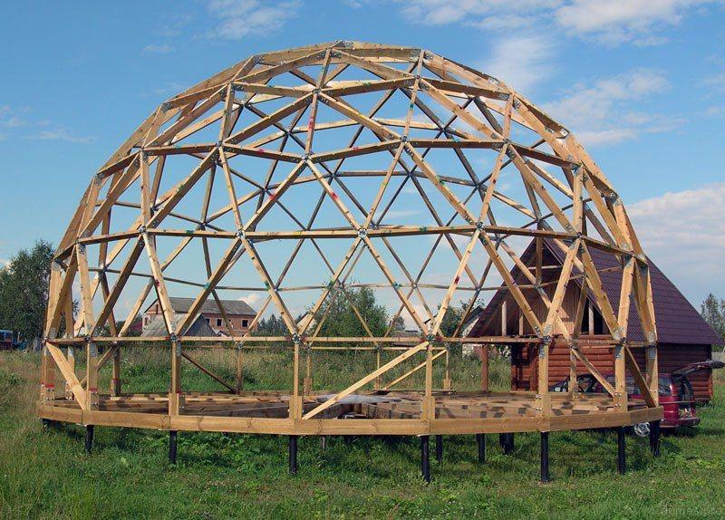 каркас геодезического купольного дома