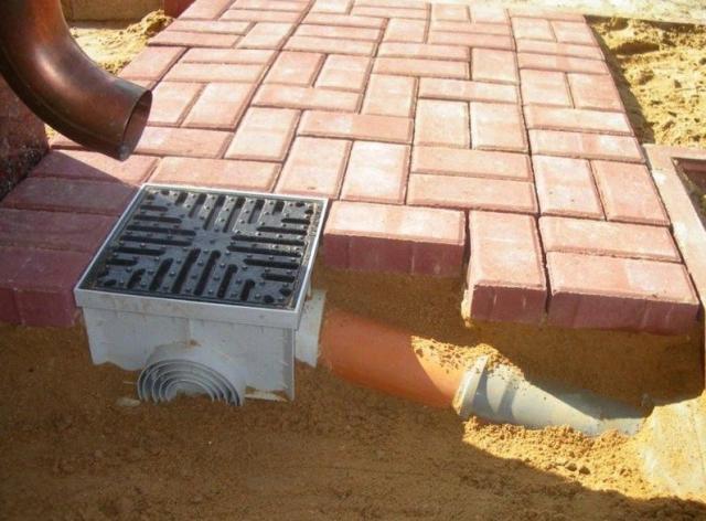 устройство точечного водоотвода