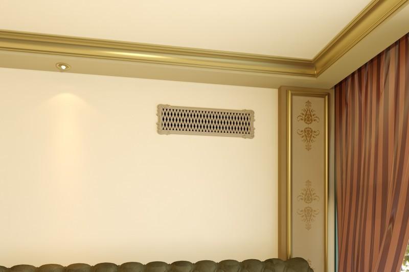 вентиляционная решётка на стене