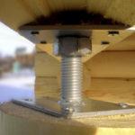 Винтовые компенсаторы усадки, как устанавливать и регулировать винтовые компенсаторы усадки, они же анкерные, домкратные, лифтовые компенсаторы.